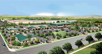 Olivewood Retail Center Rendering